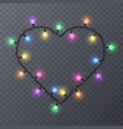 colorful garlands with shape of stars holiday vector image
