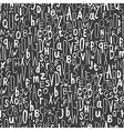 handdrawn alphabet seamless pattern vector image