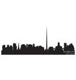 dublin ireland skyline detailed silhouette vector image