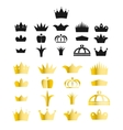 Gold crown clip art set vector image