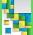pattern with colorful squares vector image