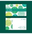 abstract green circles horizontal stripe vector image vector image