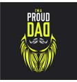 am proud dad vector image