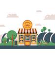 bakery local shop facade of vector image vector image