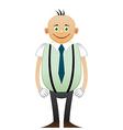 Bald happy office man vector image vector image