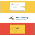 beautiful guns logo and business card vertical vector image vector image