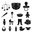 birth of a baby black icons in set collection for vector image vector image