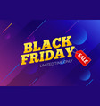 black friday sale banner background vector image