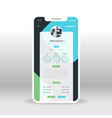 blue and green universal ui ux gui screen for vector image vector image