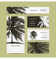 Business cards design with tropical palm tree vector image vector image