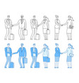 business people characters business handshake vector image vector image