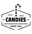 candies logo simple black style vector image vector image