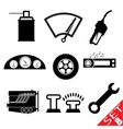 car part icon set 8 vector image