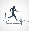 Cardio Metabolic Poster vector image vector image