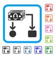 cashflow framed icon vector image vector image