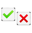 Check and Cross Symbols vector image vector image