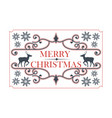 christmas decorative frame with deer vector image vector image