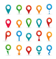 colorful map pointer icons set vector image vector image