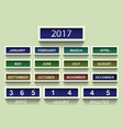 countdown timer 2017 year and month with shadow vector image vector image