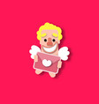 cupid heart valentine vector image vector image