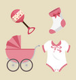 cute baby shower elements vector image vector image