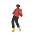 dancing man with flat young vector image vector image