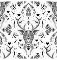 Deer head Seamless pattern vector image vector image