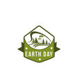 earth day green nature planet ecology icon vector image vector image