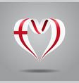 english flag heart-shaped ribbon vector image vector image