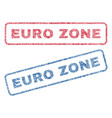 euro zone textile stamps vector image vector image