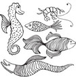 Fish Collection vector image