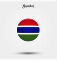 flag gambia icon vector image