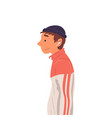 guy wearing sports suit and knitted hat side view vector image vector image