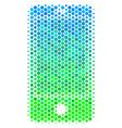 halftone blue-green smartphone icon vector image vector image