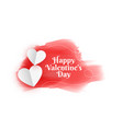 happy valentines day origami hearts and vector image