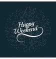 hello Weekend Poster vector image vector image