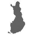 honeycomb finland map vector image vector image