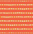 horizontal hand drawn stripes coral pink yellow vector image vector image