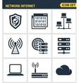 Icons set premium quality of cloud computing vector image vector image