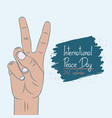 international day of peace - poster template vector image vector image