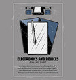 internet electronics and smart devices vector image vector image