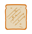 isolated slice of bread vector image vector image