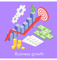 isometric concept for business growth money and vector image vector image