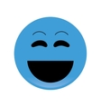 laughing emoticon icon vector image vector image