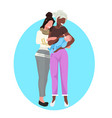 lesbian same gender couple mothers with their baby vector image