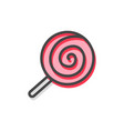 lollipop traditional candy vector image