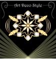 luxury art deco filigree brooch with floral motifs