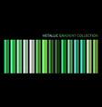 metallic neon green chrome gradient vector image vector image
