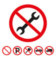 no repair sign on white background vector image