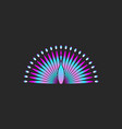 peacock bird logo gradient color beautiful bird vector image